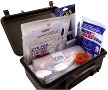 Elite Fully Stocked General Purpose First Aid Kit w/ Case