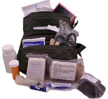 Elite M.O.L.L.E. Straps Fully Stocked Medic First Aid Kit Bag