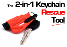 Kroll RESQME Keychain Window Breaker Rescue Seat Belt Cutter Tool