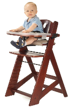 Keekaroo Adjustable Height Right Mahogany High Chair