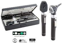 ADC 5110N Dual Handle Pocket Otoscope Ophthalmoscope Set w/ Case