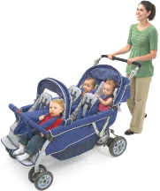 Angeles Surestop 6 Passenger Folding Daycare Commercial Bye Bye Stroller