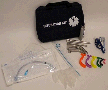 MedSource Fully Stocked EMT Paramedic Medical Intubation 4-Blade Pack Kit