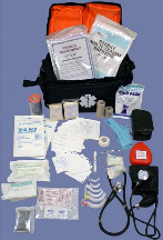 MedSource Fully Stocked EMT Paramedic Medical Trauma Bag Pack
