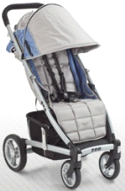 Valco Baby Zee Lightweight Single Stroller w/ Adjustable Footrest