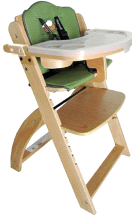 Abiie Natural Wooden Olive Beyond Junior Y High Chair