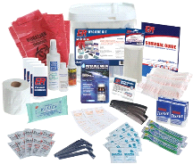 Quake Kare Fully Stocked 4 Person Ultimate Deluxe Hygiene Kit