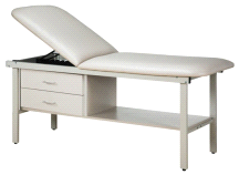 Clinton Alpha Laminate Treatment Table w/ Drawers and Adjustable Backrest
