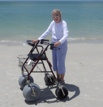 Beach Walker Aluminium All Terrain Beach Sand Mobility Walker