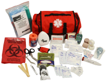 MedSource Fully Stocked Highway Patrol Medical Cab Bag Pack