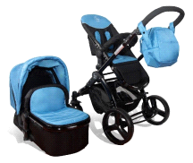 Elle Baby 3-in-1 Travel System Child Stroller and Pram