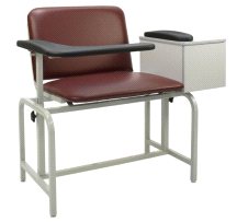 Winco 2574 Padded XL Vinyl Phlebotomy Blood Drawing Clinical Chair With Drawer