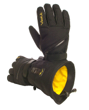 Volt Heat 7V Tatra Heated Textile Waterproof Snow Gloves BLACK