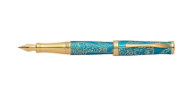 Cross Sauvage Zodiac Year of The Monkey Tibetan Teal Fountain Pen