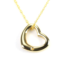 Shuzi Vitality Curved Heart Shaped 18K Gold Plated Stainless Steel Pendant