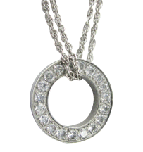 Shuzi Vitality Glam Circle Stainless Steel Fashion Pendant