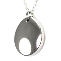 Shuzi Vitality Lux Polished Titanium Fashion Pendant