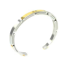 Shuzi Vitality Women's Two Tone Stainless Steel Sport Cuff Fashion Bracelet