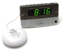 Sonic Alert SB200SS Sonic Boom Travel Bedside Alarm Clock with Super Bed Shaker