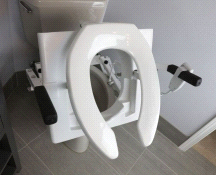 EZ-ACCESS TILT Motorized Toilet Lift System Round Seat