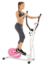Sunny P8300 Health & Fitness Pink Magnetic Elliptical Trainer