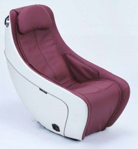 Synca SL Track Heat Therapy BURGUNDY Compact Massage Chair