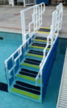 AquaTrek ADA-5600 6 Tread ADA Pool Forward Walking Ladder System