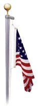 EZPole 21' Traditional Sectional Classic Rope Polished Aluminum Flagpole