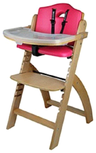 Abiie Natural Wooden Raspberry Beyond Junior Y High Chair