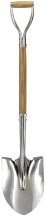 "Yo-Ho 30"" Wooden D-Handle Ceremonial Round Point Shovel"