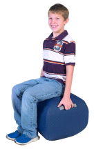 "Angeles DARK BLUE 16"" Turtle Seat Lightweight Soft Classroom Seat"