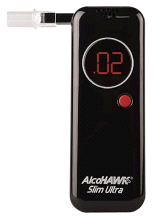 AlcoHawk Ultra Slim Breathalyzer Alcohol Screening Tester
