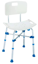 Big John BJBATH White Heavy Duty Shower Chair