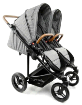 StrollAir Twin Way Double Lightweight Compact Stroller Denim Slate